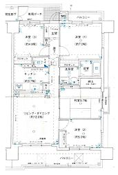 アステージ泉大津[7階]の間取り