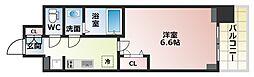 Osaka Metro谷町線 四天王寺前夕陽ヶ丘駅 徒歩6分の賃貸マンション 5階1Kの間取り