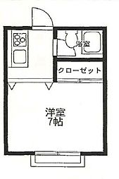 パステラルハイム[1-E号室]の間取り
