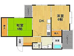 エスポワール伊丹桜ヶ丘[1階]の間取り