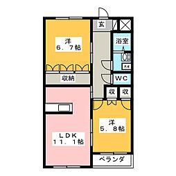 コンブリオ[2階]の間取り