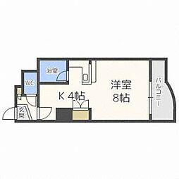北海道札幌市東区北四十四条東14丁目の賃貸マンションの間取り