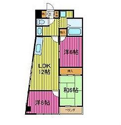 メゾン・デ・クーレ[2階]の間取り