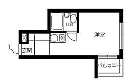 東京都新宿区北新宿2丁目の賃貸マンションの間取り