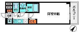 S-RESIDENCE都島 6階1Kの間取り