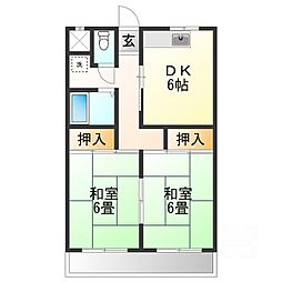 シャインハイツ吉沢II[2階]の間取り
