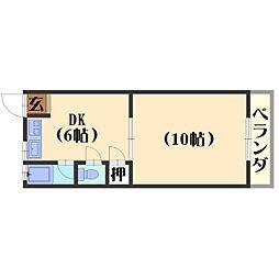 原荘苑[2F-11号室]の間取り