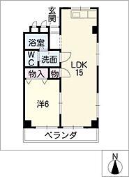 ファミーユ千代田[4階]の間取り
