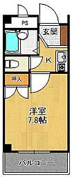 兵庫県西宮市甲子園春風町の賃貸マンションの間取り