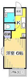 ネオファミーユ橋本[2階]の間取り