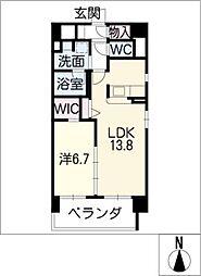 Mio・Rian[4階]の間取り