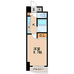S-FORT宮町[3階]の間取り