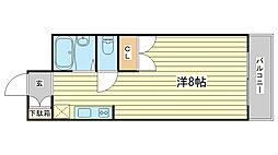 兵庫県姫路市船橋町2丁目の賃貸マンションの間取り