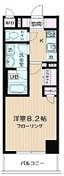 JR京葉線 潮見駅 徒歩16分の賃貸マンション 9階1Kの間取り