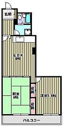 カーサ北野[3階]の間取り