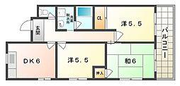 広陽ハイツ[5階]の間取り