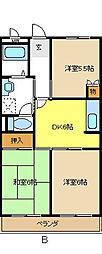 エスポワールクラート[2階]の間取り