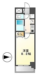 愛知県名古屋市中村区名駅南1の賃貸マンションの間取り