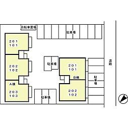 メゾン・ド・プルメリア A[201号室]の外観
