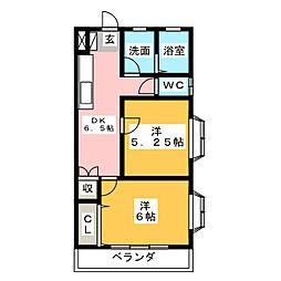 栃木県宇都宮市東今泉2丁目の賃貸マンションの間取り