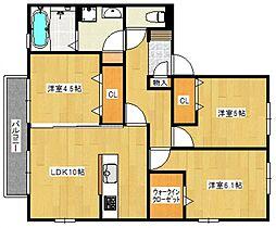 セントラルパークII[1階]の間取り