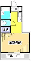 ハイツ泉[1階]の間取り