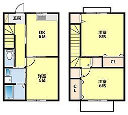 愛知県豊田市高上2丁目の賃貸アパートの間取り