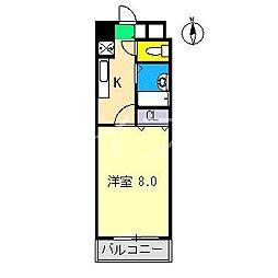 鏡川クレセントパーク[4階]の間取り