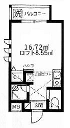 埼玉県和光市白子3丁目の賃貸アパートの間取り
