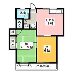 アト・イーズ葛川 A B[1階]の間取り