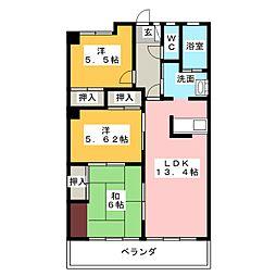 メゾン光洋白子駅前502号室[5階]の間取り