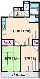 神奈川県横浜市鶴見区梶山2丁目の賃貸マンションの間取り