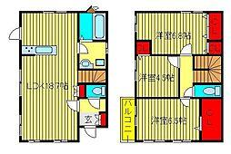 [一戸建] 千葉県柏市増尾 の賃貸【/】の間取り