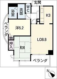 シティマンション赤池[5階]の間取り