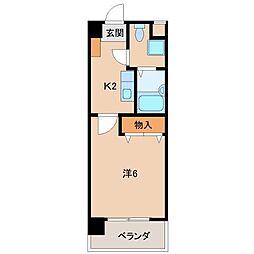 インペリアル宮前[2階]の間取り