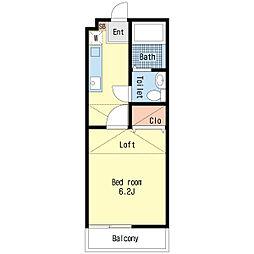 ロワール海神[2階]の間取り