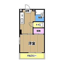 サンモールS[2階]の間取り