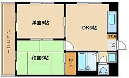 兵庫県尼崎市長洲東通3丁目の賃貸マンションの間取り