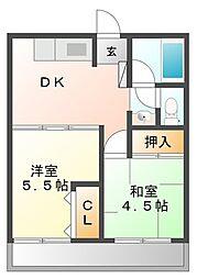 曙コーポ[3階]の間取り