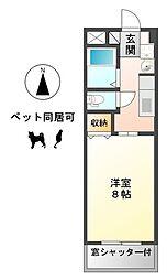 愛知県一宮市丹陽町九日市場字地子の賃貸アパートの間取り