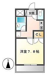 キャスティル2[3階]の間取り