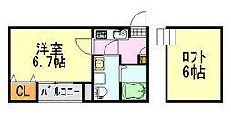千葉県千葉市中央区寒川町3丁目の賃貸アパートの間取り