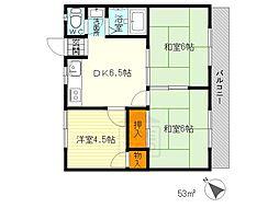 リバーサイドマンション・レオ[2階]の間取り