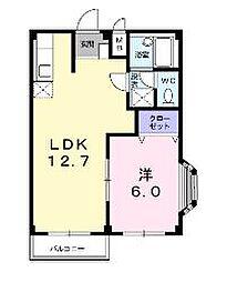 コーポウィスタリアB[2階]の間取り