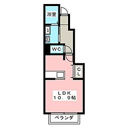 ルナピーノII A[1階]の間取り