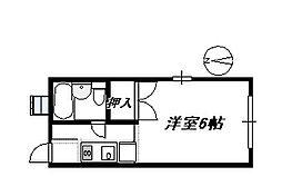 サンライズハイツ 204[2階]の間取り