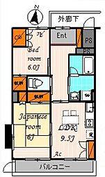 東京都世田谷区千歳台4丁目の賃貸アパートの間取り