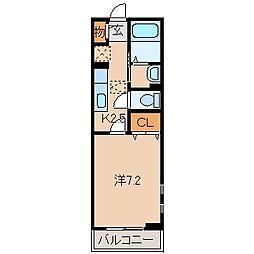 和歌山県和歌山市関戸2丁目の賃貸アパートの間取り