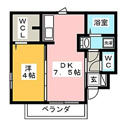 仮)D−room黒野[1階]の間取り