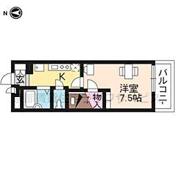 レオパレス西ノ京円町[309号室]の間取り